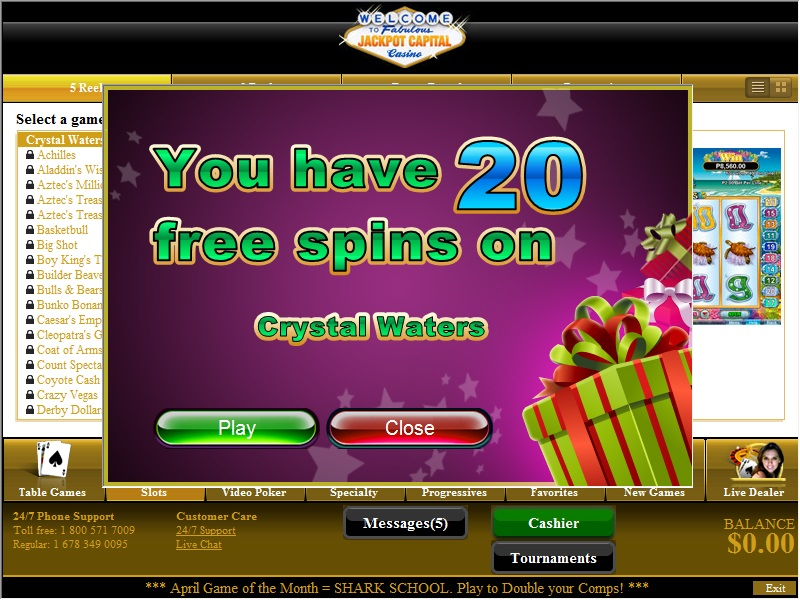 Crystal Waters Free Spins