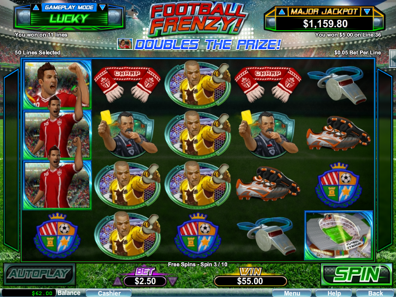 Football Frenzy Slot Free Spins Palace of Chance Casino