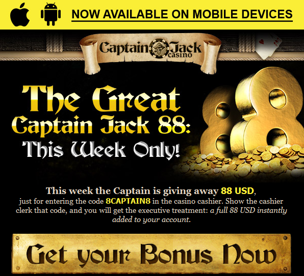 Captain Jack No Deposit Casino Bonus