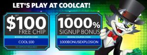Cool Cat Casino Bonuses No Deposit Plus Match