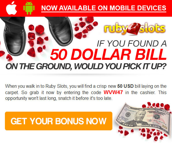 Ruby slots no deposit bonus 2018