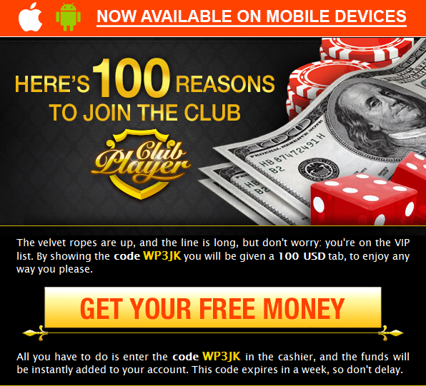 No Deposit Club Player Casino Bonus