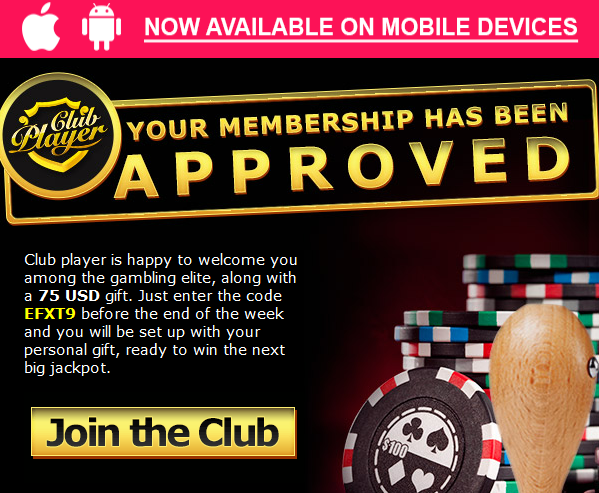 club player casino bonus codes