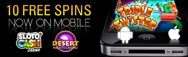 online mobile casino free spin games