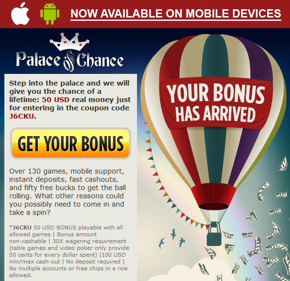 palace of chance casino no bonus codes