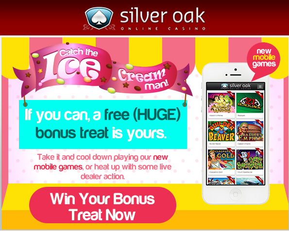 Silver Oak Casino Bonus Codes 500 for 10 000