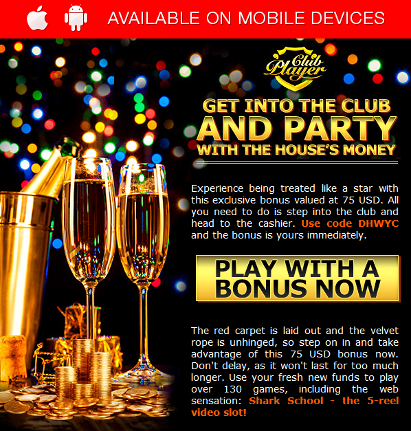 new no deposit codes for club player casino