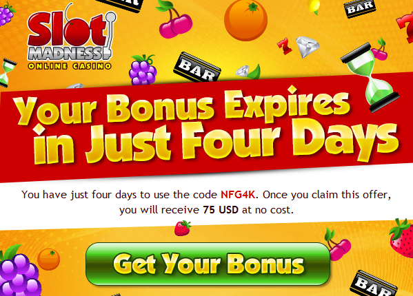 Slot Madness No Deposit Bonus Code August 2014