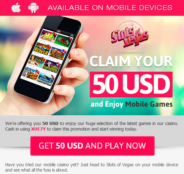 Slots of Vegas Mobile Casino Bonus