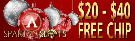 Spartan Slots Casino Free Christmas Bonuses