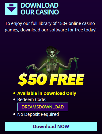 Dreams Casino No Deposit Bonus
