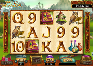 online slots no deposit wizards win