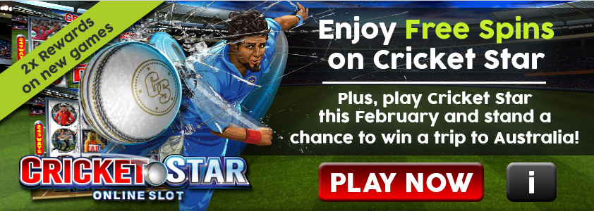 Cricket Star Slot Free Spins