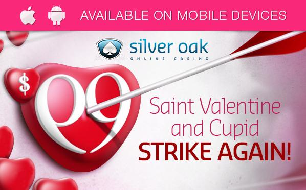 Silver Oak Casino Valentines Day Free Chip