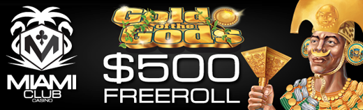 Gold of the Gods Slot Freeroll