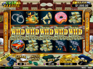 Aladdins Gold Casino Cash Bandits Slot Free Spins