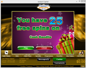 Jackpot Capital Casino Free Spins Code