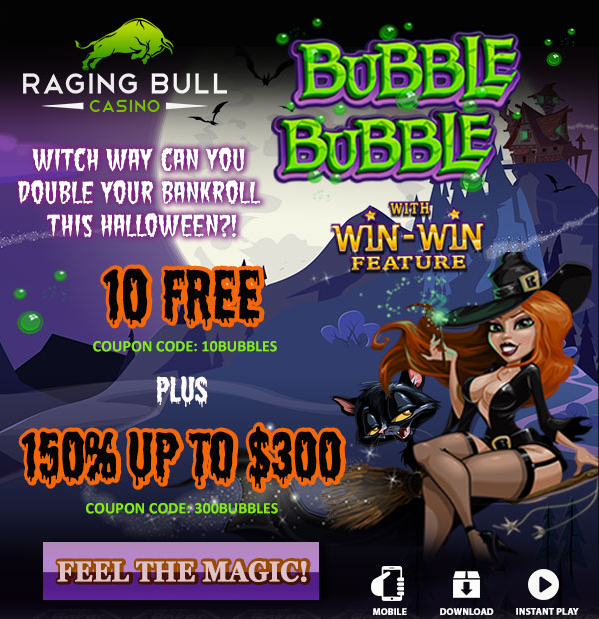 Bubble Bubble Slot Bonuses Raging Bull Casino