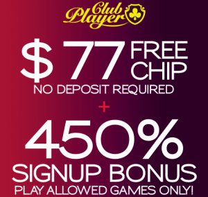Free Club Player Casino Bonus Codes