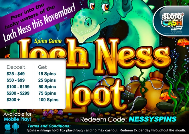 Loch Ness Loot Slot Added Spins