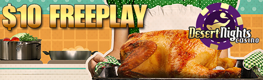 Thanksgiving Warm Up Free Play Casino Bonus