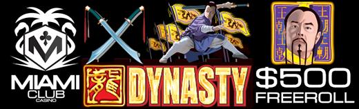 Miami Club Casino Dynasty Slot Freeroll