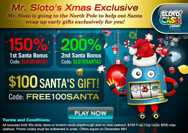 Sloto Casino Casino Early Xmas Bonuses