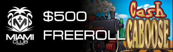 Miami Club Casino Cash Caboose Slot Freeroll