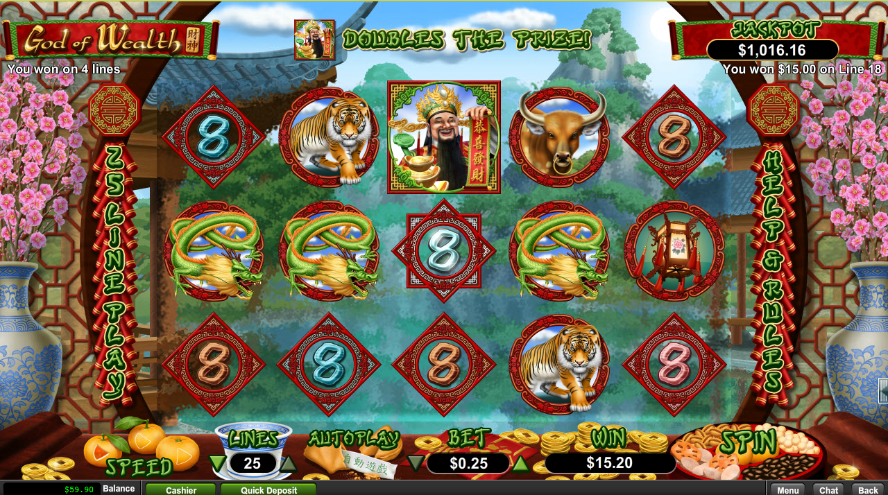 Slots of Vegas Casino Free Spins God of Wealth Slot