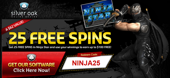 Ninja Star Slot Free Spins Silver Oak Casino