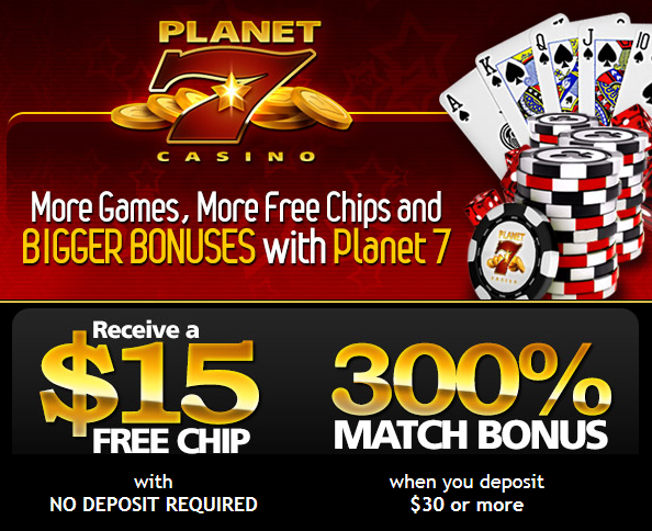 no deposit codes planet 7 casino
