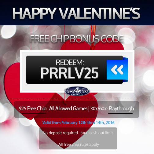 Free Cool Cat Casino Valentines Day Bonus