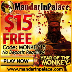 Mandarin Palace Casino Bonus Codes for