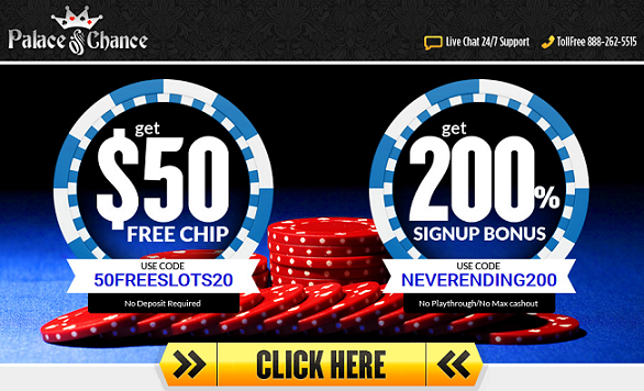 Free Palace of Chance Casino Bonuses