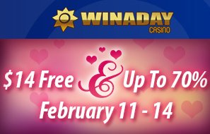 Win A Day Casino Valentines Day 2016 Bonuses
