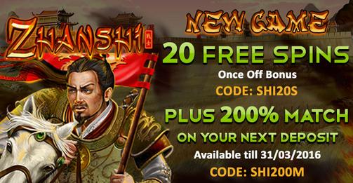 Raging Bull Casino Zhanshi Slot Free Bonuses