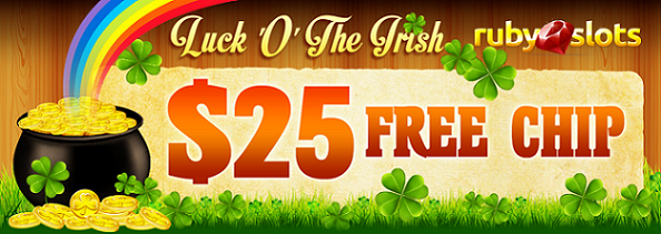 Ruby Slots Casino St Patricks Day Free Chip