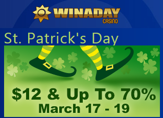 Win A Day Casino St Patricks Day 2016 Bonuses