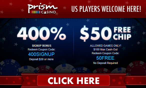 Free Prism Casino New Player Bonuses
