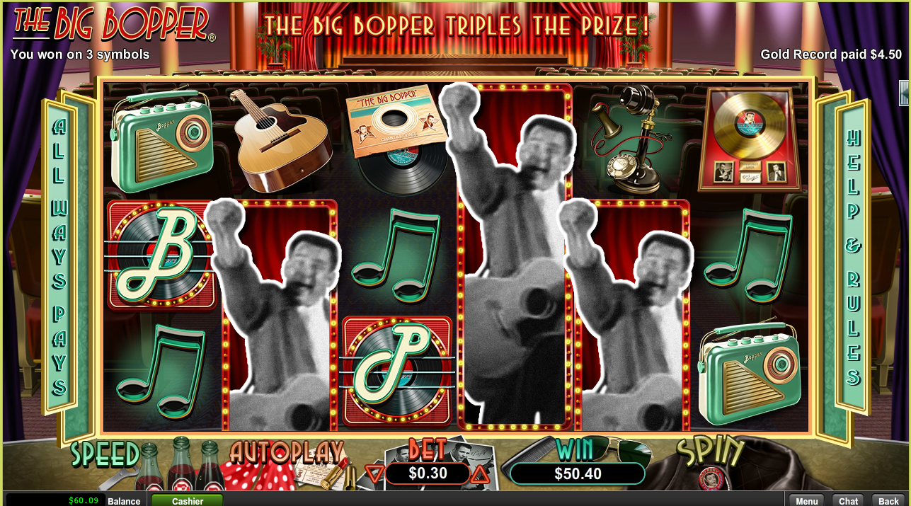 The Big Bopper Slot Free Spins Grande Vegas Casino