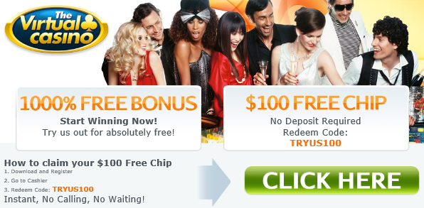 Virtual Casino Free Chip Bonus Code