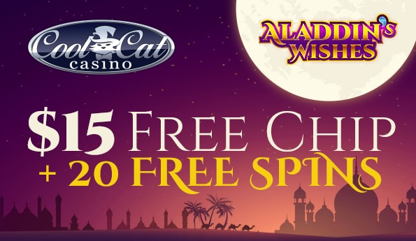10 free spins valid for new and old players at Aladdins Gold Casino