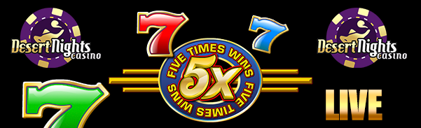 Five Times Wins Mobile Slot Free Play Bonus