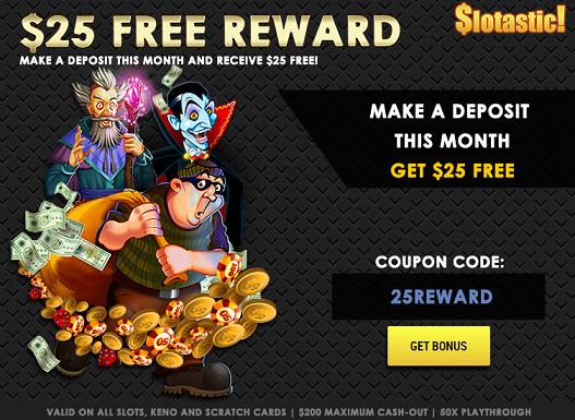 June 2016 Slotastic Casino Bonus