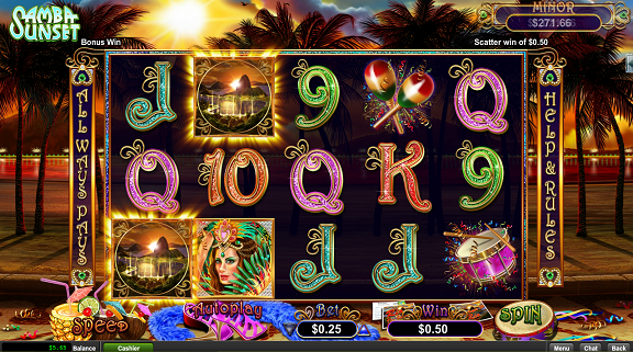 Grande Vegas Casino Samba Sunset Slot Bonuses