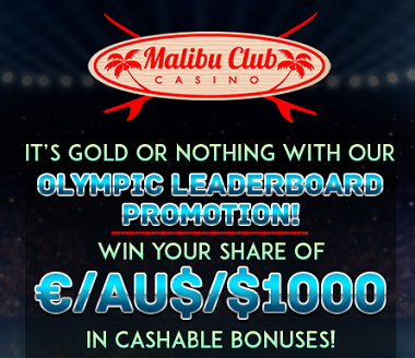 Malibu Club Casino Olympic Bonuses