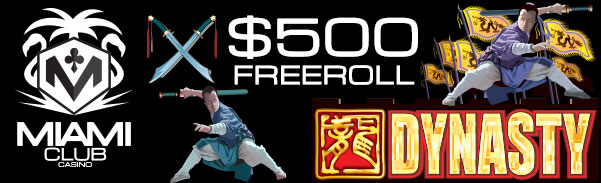 Miami Club Casino Beat the Bank Slot Freeroll