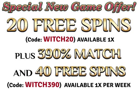 Grand Fortune Casino Witch's Brew Slot Bonuses