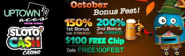 October Bonus Fest Casino Bonuses