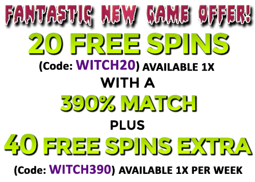 Raging Bull Casino Witch's Brew Slot Bonus Codes
